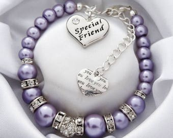 Special Friend Bracelet 1L Gift For A Friendship Best BFF Birthday