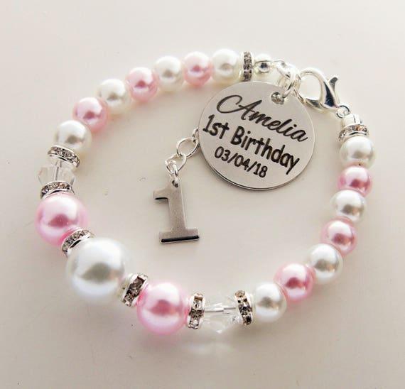 First Birthday Customized Name Bracelet Babys
