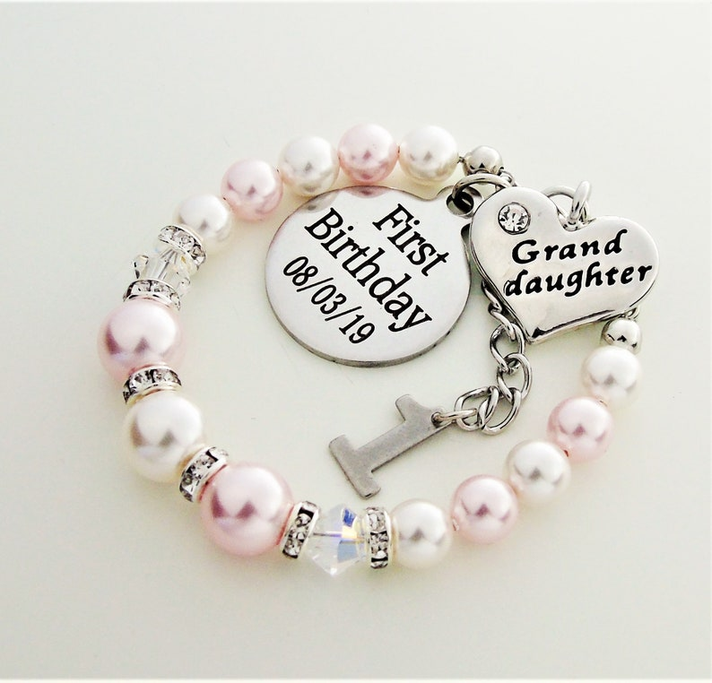 First Birthday Gift For Granddaughter Personalized Bracelet