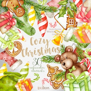 Winter Holiday Watercolor Clip Art | Watercolor clipart, Clip art, Art