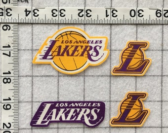 9c4c00e21f0 Los Angeles LA LAKERS NBA Iron-on no-sew Fabric Appliques 4pc