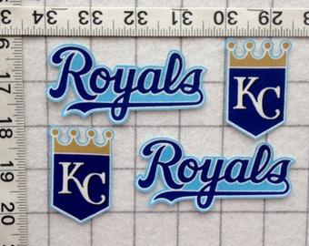 Kansas City ROYALS KC MLB Iron-on  no-sew Fabric Appliques