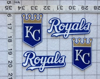 Kansas City ROYALS KC MLB  Iron-on  no-sew Fabric Appliques set #2
