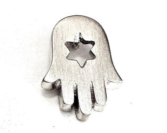 Sterling Silver Hamsa with Star of David