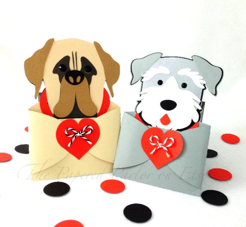 Dog Gift Card Holder Invitations Mastiff Party Schnauzer Puppy Lover