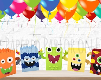 Monster Party Box/Monster Party Bag/Monster Treat Bag/Monster Treat Box/Monster Goody Box/Monster Goody Bag/Monster Party/Monster Birthday