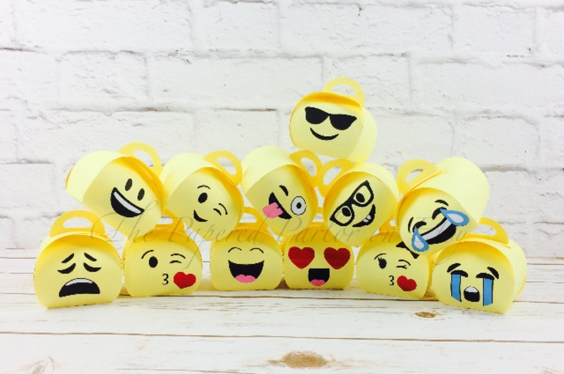 Emoji Party Bags Box Goodie
