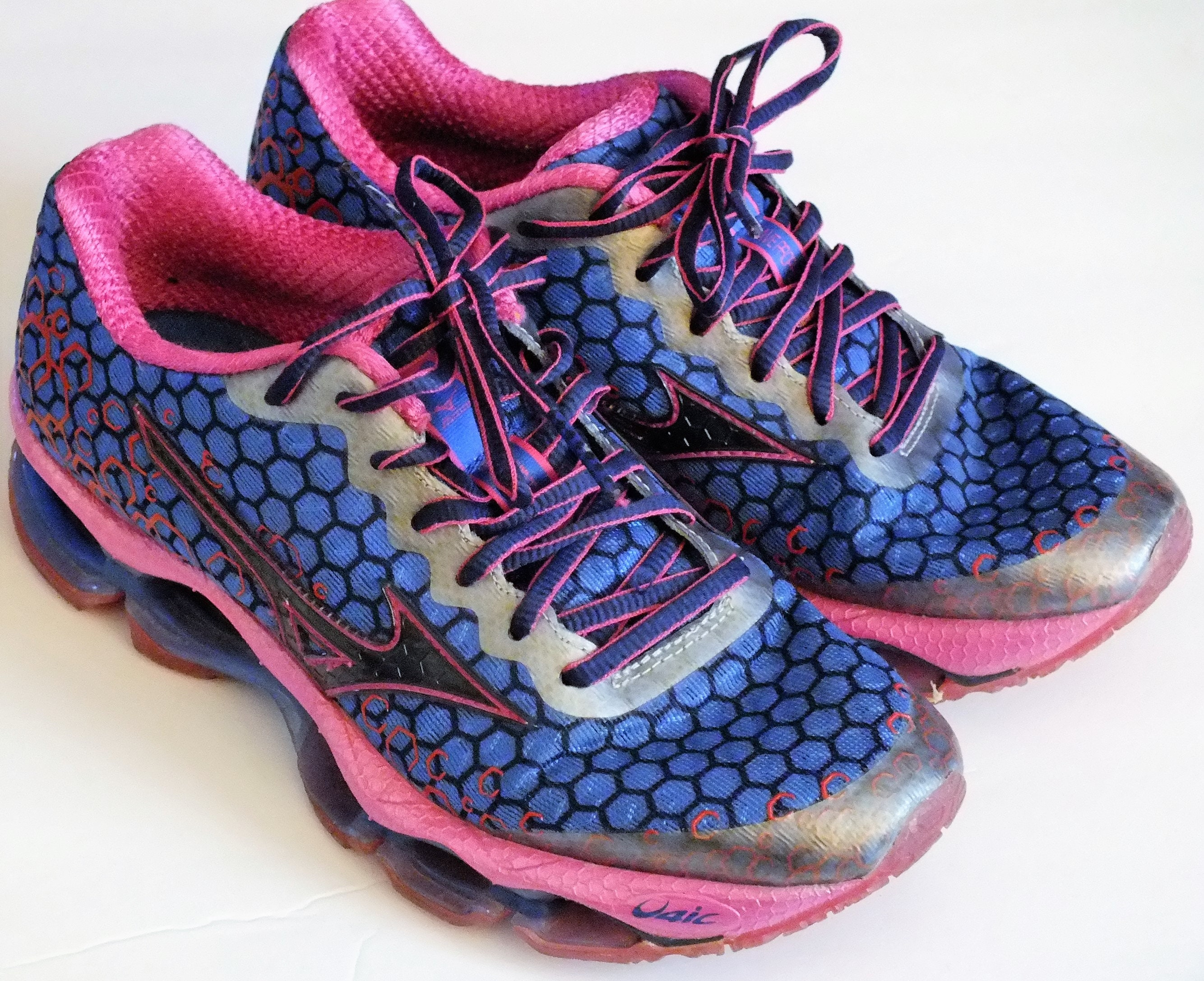 buy popular 793e6 7084a ... 3 running shoes8 blue and pink women size 6.5 w 0afaf b6657 australia womens  mizuno depths wave prophecy 3 running shoes dew performance honey purple ...