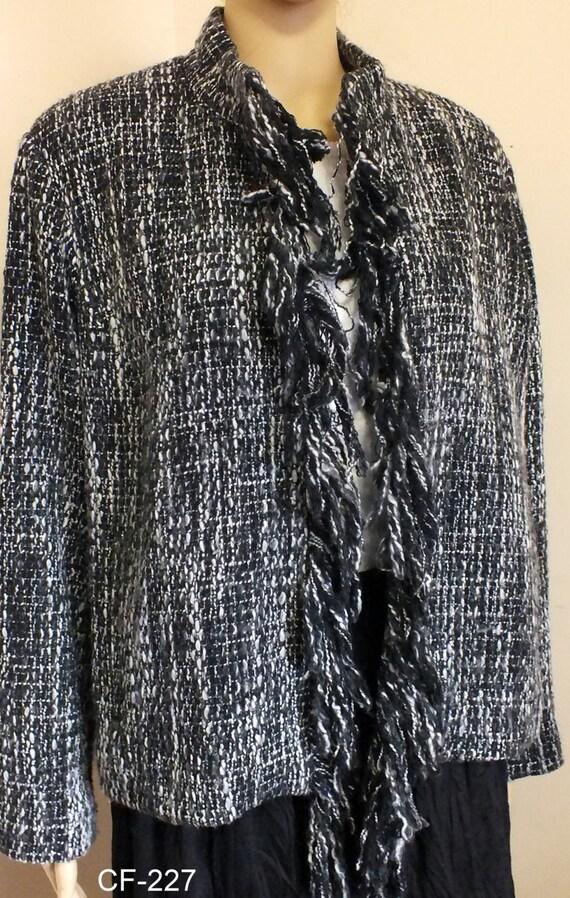 6c4db81f3 Chicos design women jacket blazer size 2, 80's