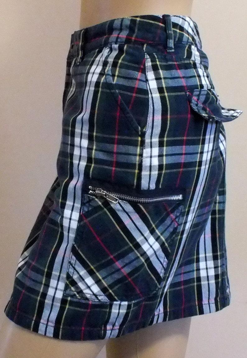 9ff0bdfad1 Tommy Hilfiger TARTAN plaid mini skirt size 2 TALL 100% | Etsy