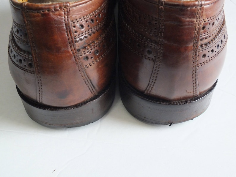 33edfd9f7c01b vtg. MERCANTI FIORENTINI wingtip brown leather oxford dress shoes men size  8M Made in Italy
