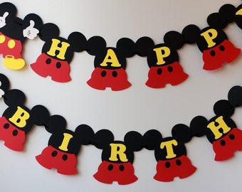 Mickey Birthday Decorations Mouse Banner 1st Party