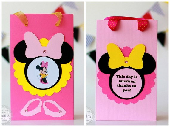 Minnie Mouse Birthday Decorations Party Favor Bags Candy Bag Goody Favors Gift Treat Disney