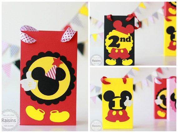 Mickey Mouse Treat Bags Birthday Decorations Favors