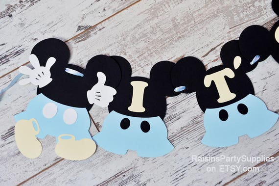 Baby Mickey Mouse Baby Shower Decorations Boy Disney Inspired Baby