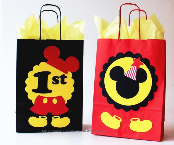 mickey mouse favor bags mickey mouse birthday party decorations