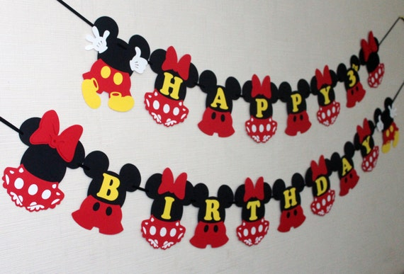 Mickey And Minnie Mouse Birthday Decorations
