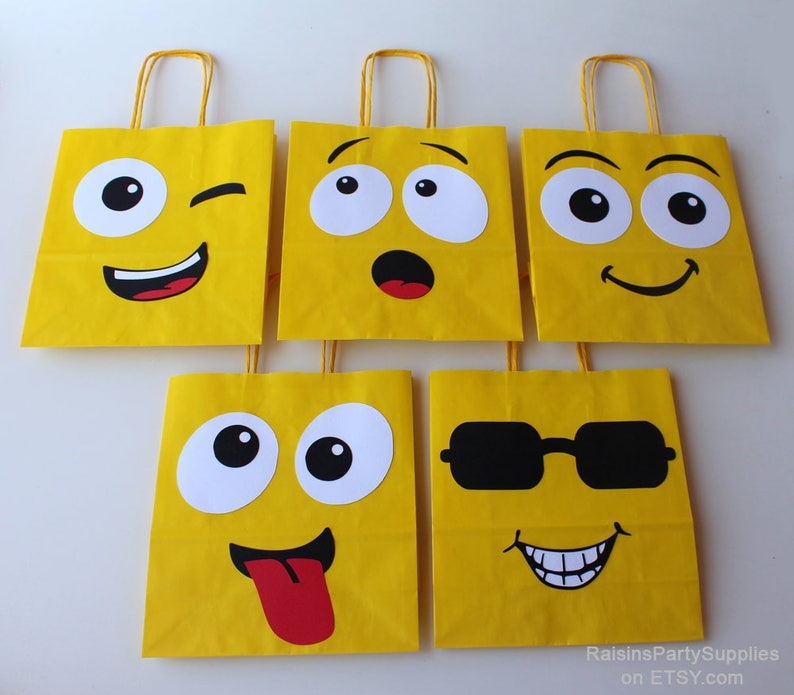 Emoji Smiley Bags Birthday Party Decorations For