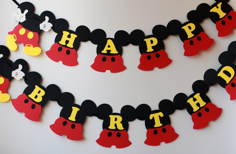 Mickey Birthday Decorations Mouse Banner 1st