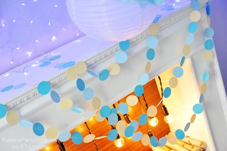 Circle Paper Garland Party Decorations Sewn Circles Home