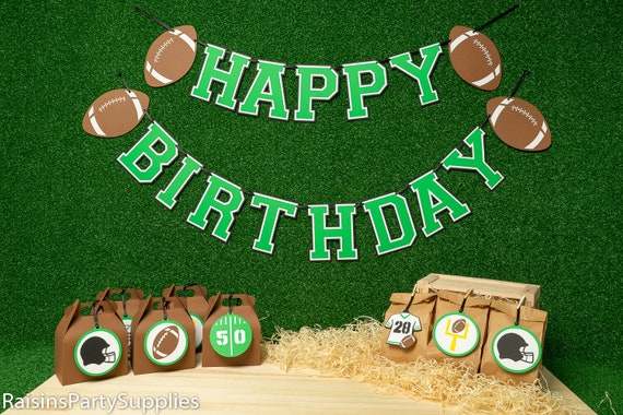 Super bowl happy birthday banner Personalized super bowl ...