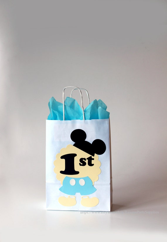 Mickey Mouse 1st Birthday Goody Bags For Favors