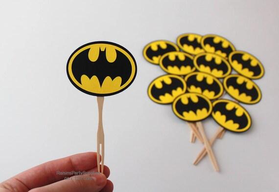Batman Birthday Decorations Bat Man Cupcake Toppers For Super Hero Party Picks