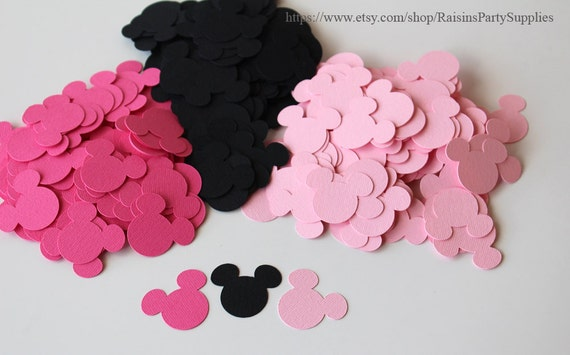 Baby shower Minnie Mouse decorations Minnie paper confetti cutouts
