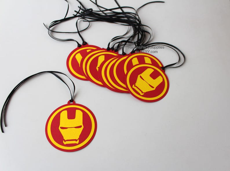 Iron Man Thank You Tags Inspired Avengers Birthday