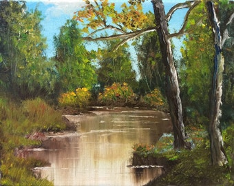 """Original landscape oil painting """"Unexpected"""" - 10"""" x 8"""" oil on canvas sold by artist"""