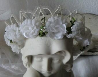 Jeanne d´Arc Living Crown Krone Tiara Kranz Brautkranz Shabby Vintage Brocante