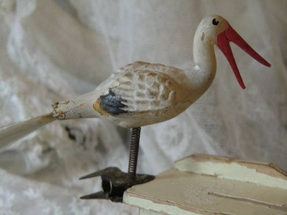 Alter Weihnachtsschmuck Christbaumschmuck antik Glas Vogel   Etsy