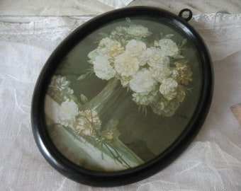 Romantic Vintage floral picture nostalgia at 1900 faded boudoir shabby chic