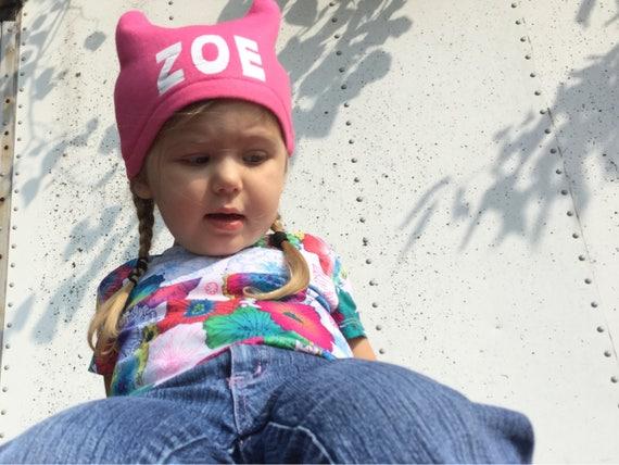 Personalised Initials Children/'s Beanie Hat Winter Hat Boys Girls Toddler