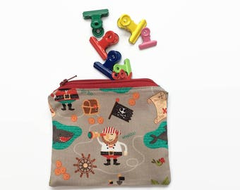 Pirates Ahoy! - Snack Bag / Treat Bag / Accessory bag / Wallet - Water-Resistant & Reusable