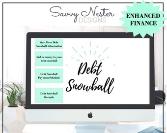 Debt snowball excel | excel debt payoff | excel credit card | credit card spreadsheet | excel debt loan | monthly planner