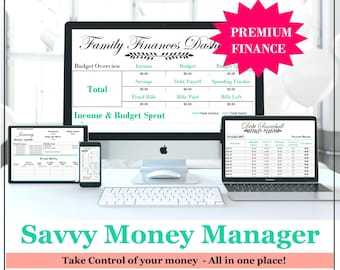 finance budget planner weekly income track excel debt etsy
