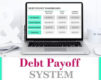 Monthly debt planning | planner financial | Dave Ramsey | credit repayment | debt snowball tracker | payoff loan