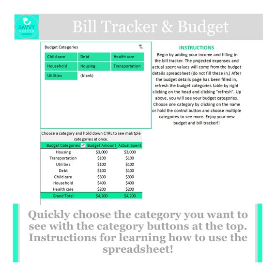 excel family budget expense system income tracker etsy
