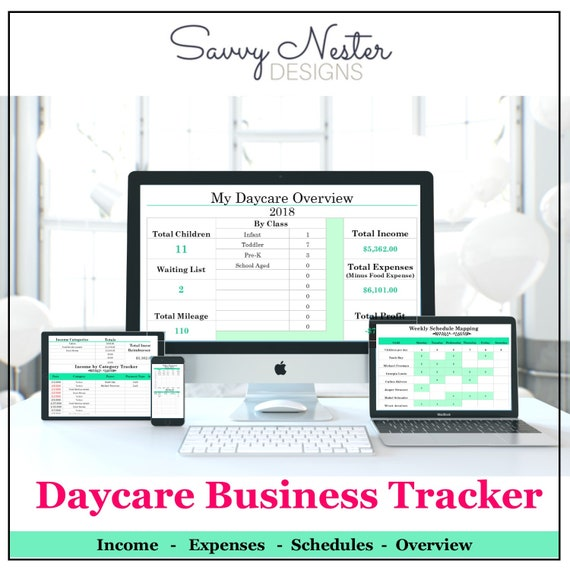 daycare business tracker childcare provider preschool etsy