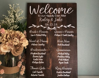 wedding program sign etsy