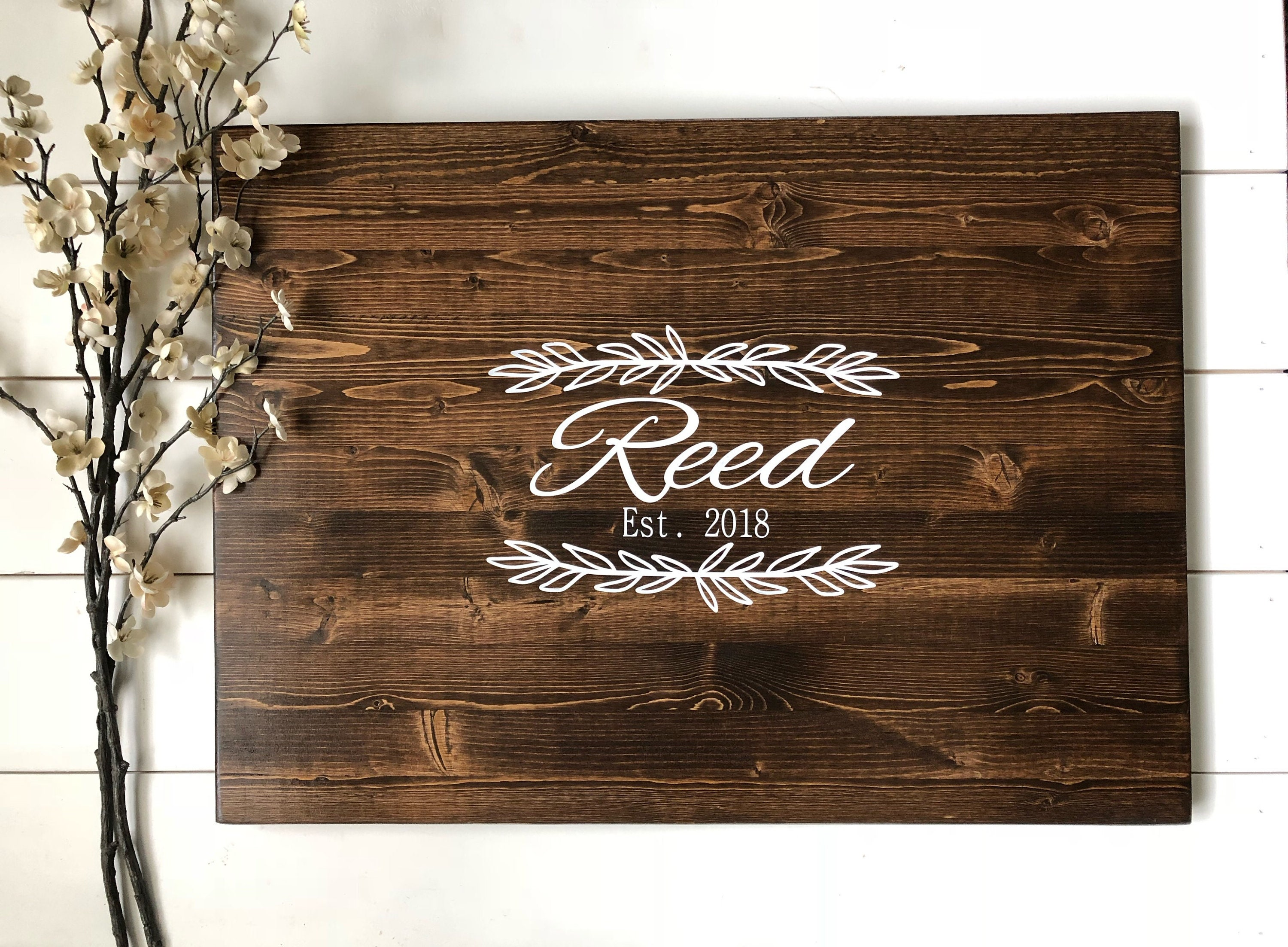 Rustic Wedding Decor Rustic Wedding Guest Book Alternative Calligraphy Name Design Country Wedding Gift Guest Wood Guest Book Sign