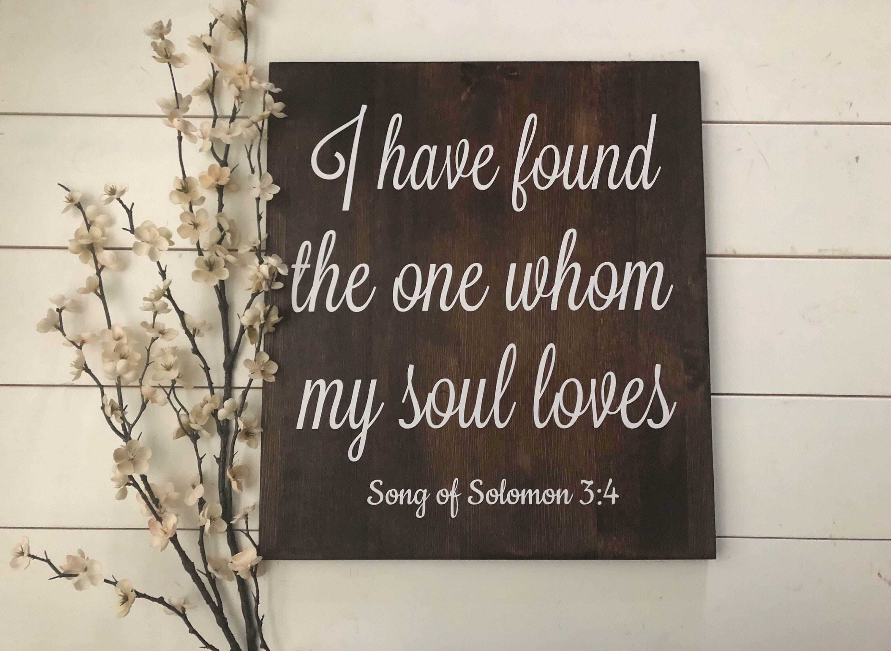 I Have Found The One Whom My Soul Loves Song Of Solomon Bible Verse