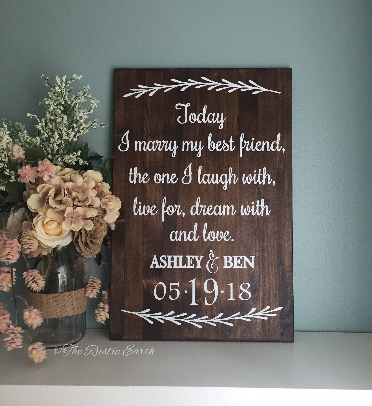 Today I Marry My Best Friend Sign Love Story Wedding Sign Wedding