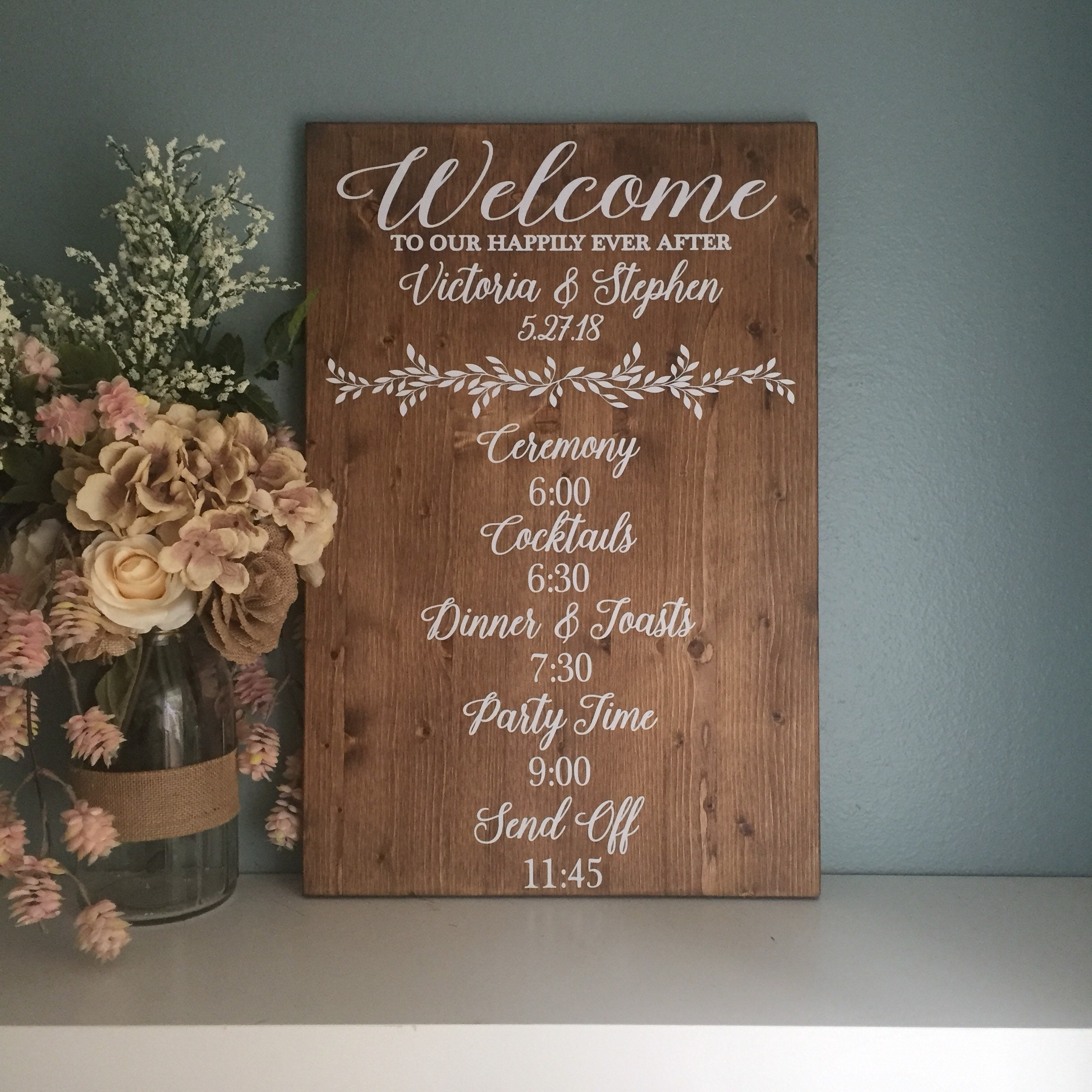 Wedding Order Of Events   Wedding Day Events Sign Ceremony Order Of Events Sign Best Day