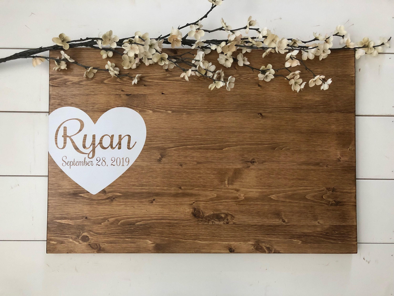Rustic Wedding Guest Book Alternative /Heart Guest Book / Wood Guest