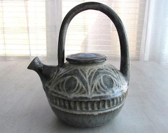 Vintage Teapot, Unique Teapots, Vintage Tea Pot, Stoneware Tea Pot, Teapot, Tea Pot, Tea Pot Vintage, Tea Pot with Lid, Cottage Decor