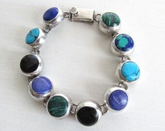 Mexican Sterling Bracelet, Sterling Silver Bracelet for Women, Sterling Silver Bracelet, Mexican Sterling Silver, Taxco Bracelet, 925 Silver
