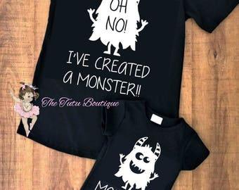 10690e639b29 I've Created a Monster shirt, Mommy Son shirts, Mommy Daughter shirts,  Mother's Day, Daddy Son Shirts, Daddy Daughter Shirts, Father's Day