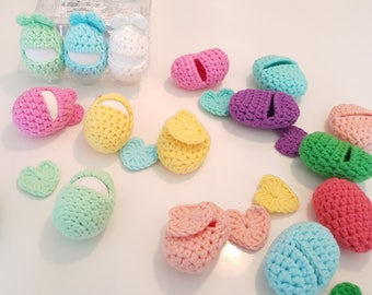 INSTANT DOWNLOAD Crochet Pattern in PDF, Easter Egg Cover, Egg Cozy, Egg Cosy, with Bunny 'Heart' Ears. Fun for Easter.